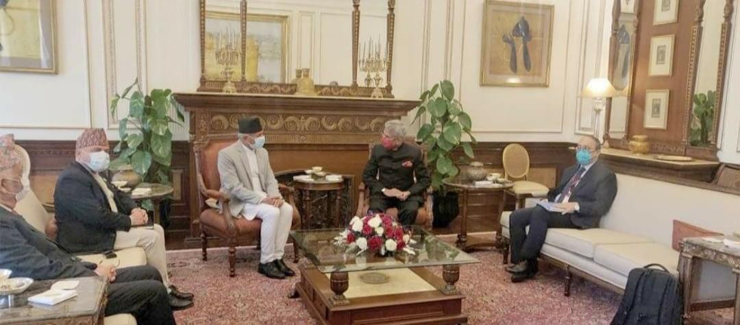 नेपाल र भारतबीच परराष्ट्रमन्त्री स्तरीय बैठक जारी