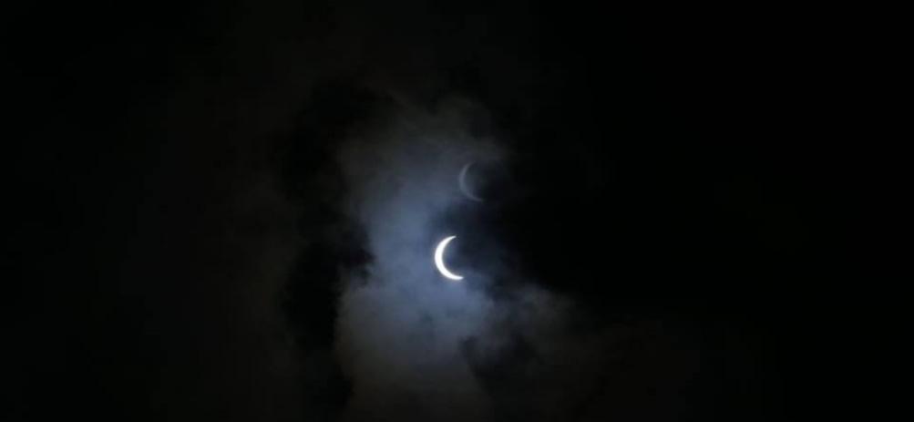 खण्डग्रास सूर्यग्रहण जारी, २ बजेर २३ मिनेटमा सकिने